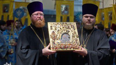 Духовенство и прихожане храмового комплекса в честь святого преподобного Алексия человека Божия приняли участие в торжествах по случаю празднования Касперовской иконы Божией Матери