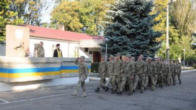 Клирик Алексеевского храмового комплекса священник Андрей Полещук посетил праздничные мероприятия воинской части А3571 по случаю Дня защитника Украины