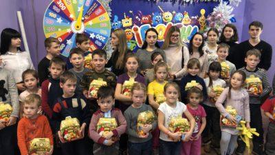 Одесская епархия поздравила детей из многодетных семей города Одессы с праздником Рождества Христова