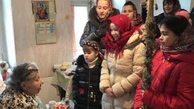 Детский хор Воскресной школы «Человек Божий» при Свято-Алексеевском храме города Одессы поздравил духовенство и прихожан храма с праздником Рождества Христова