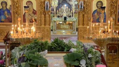 Празднование Троицы в Свято-Алексеевском храме, 2020-й год